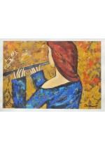 girl in blue by Dina Shubin