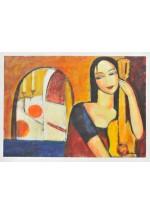 girl with guitar by Dina Shubin