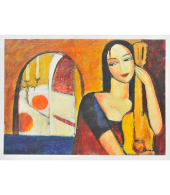girl with guitar by Dina Shubin