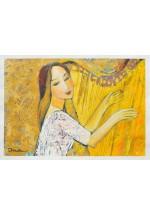 golden harp by Dina Shubin
