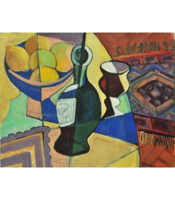 bottle and goblet by Dina Shubin