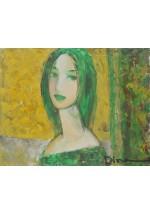girl in green by Dina Shubin