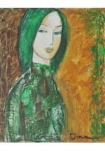 green hair by Dina Shubin