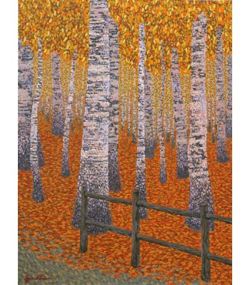the birch forest by George Kotman